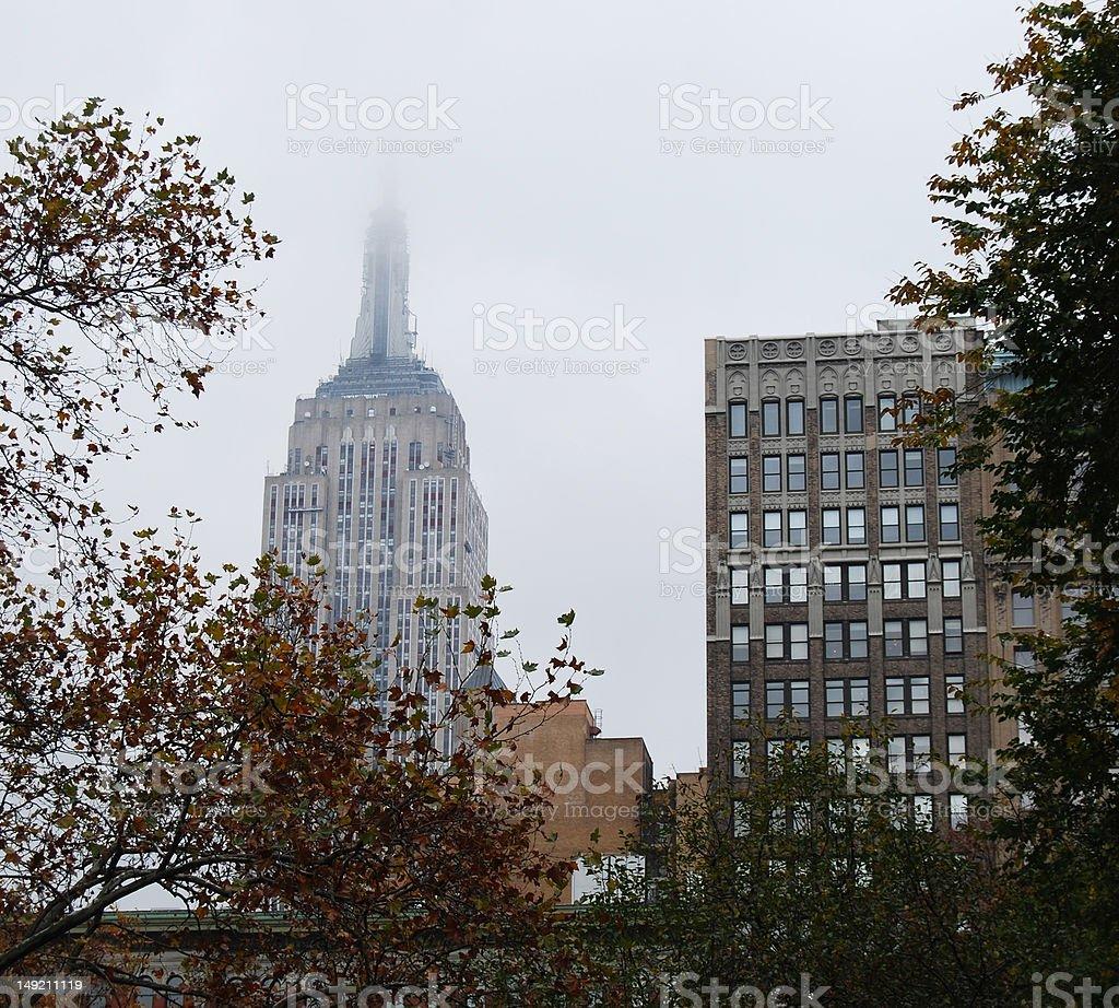 Overcast New York stock photo