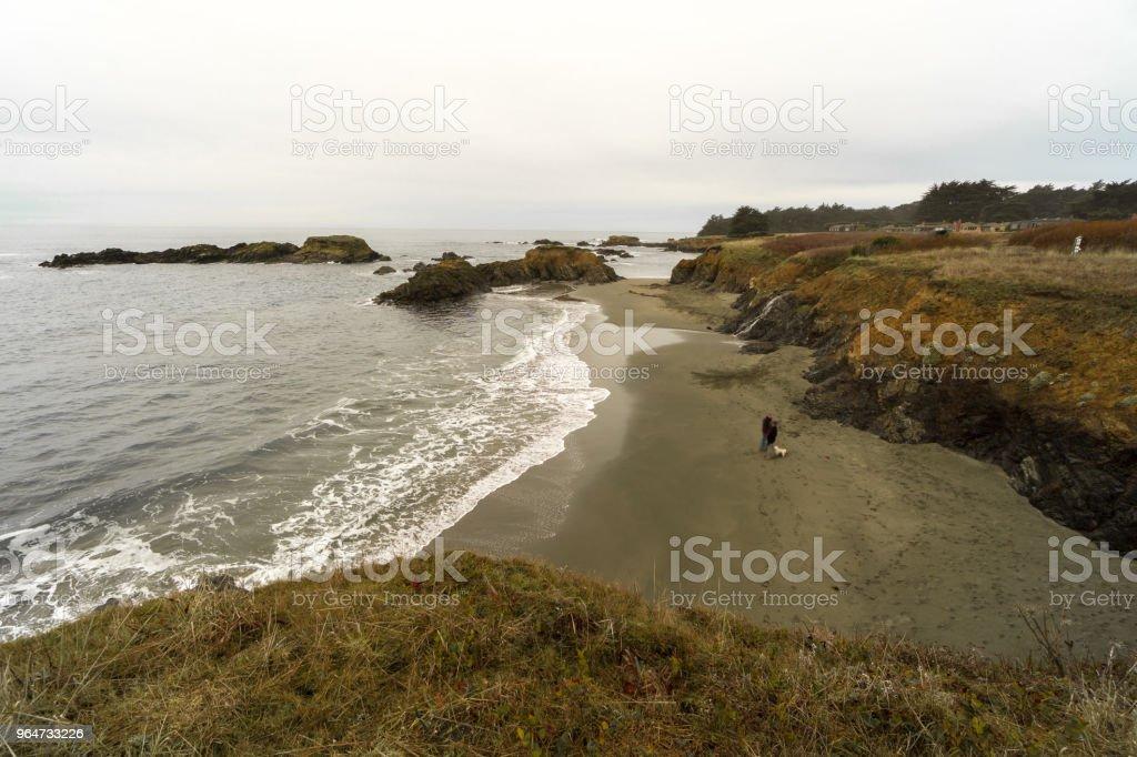 Overcast northern California Coast royalty-free stock photo