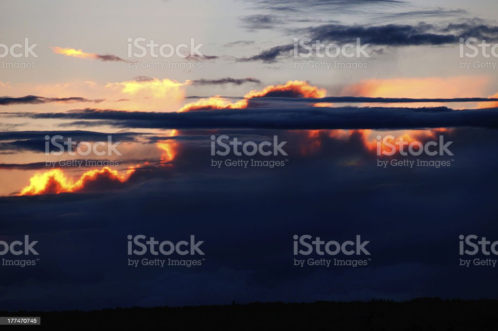 Overcast sky before storm royalty-free stock photo