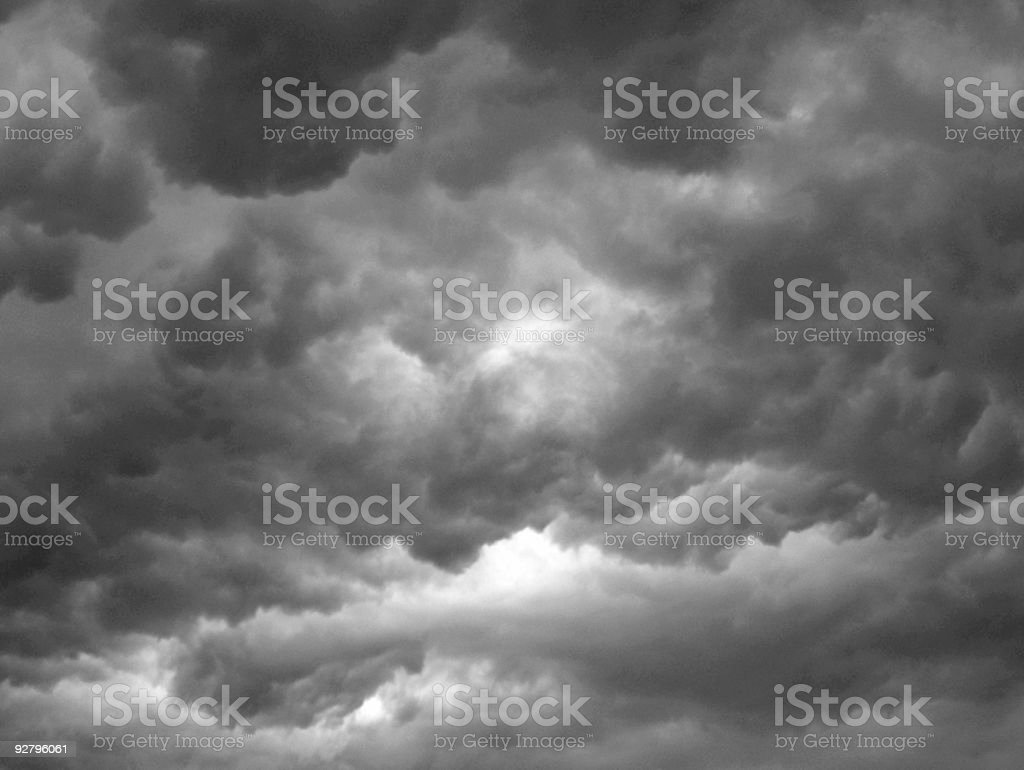 overcast sky with dark rain clouds royalty-free stock photo