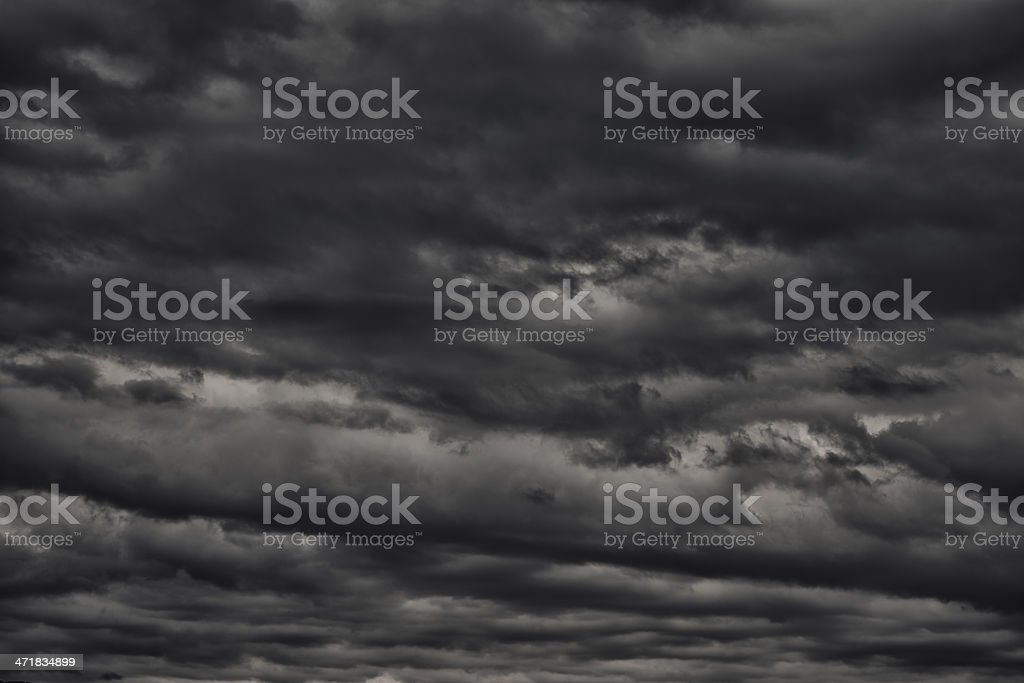 overcast sky with rain clouds royalty-free stock photo