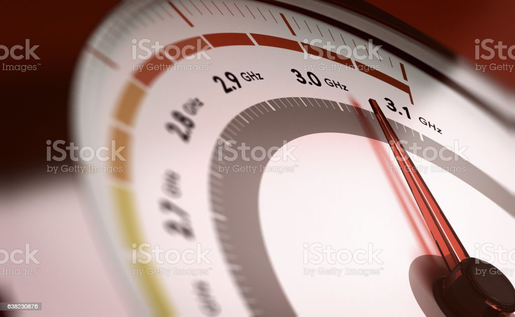 Overclocking Computer Processor Concept stock photo