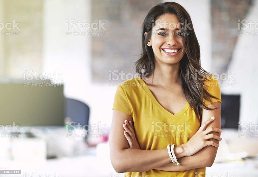 I overcome every obstacle with a smile on my face stock photo