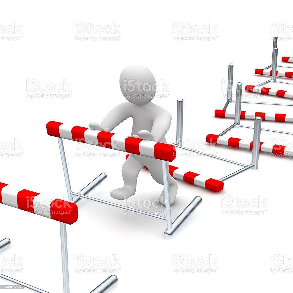Overcome hurdles royalty-free stock photo