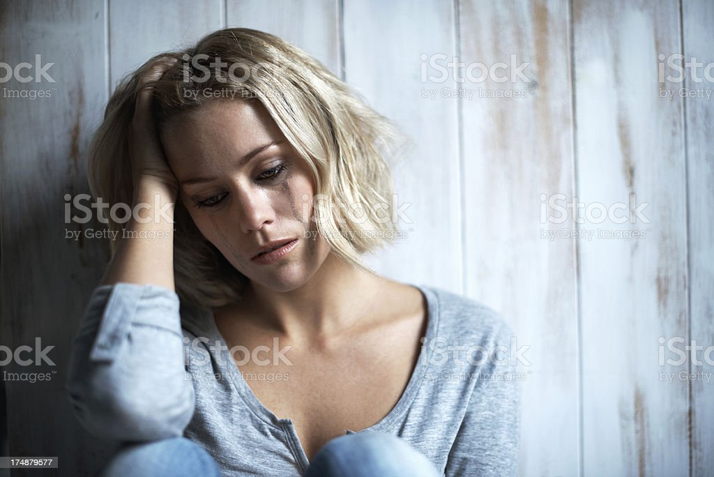 Overcome with emotion stock photo