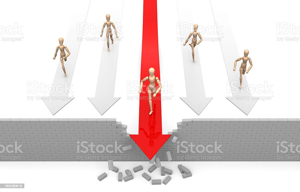 Overcoming Barriers royalty-free stock photo