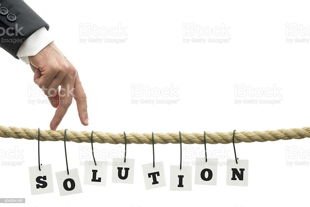 Overcoming problems stock photo