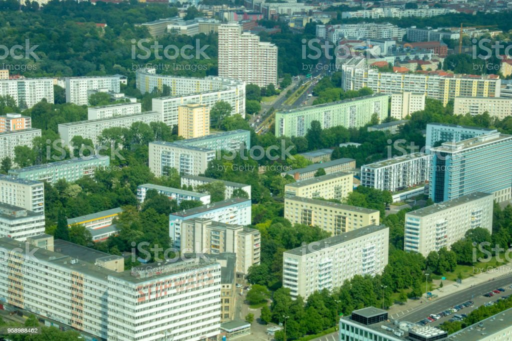 Overcrowded living in the city - berlin/germany stock photo