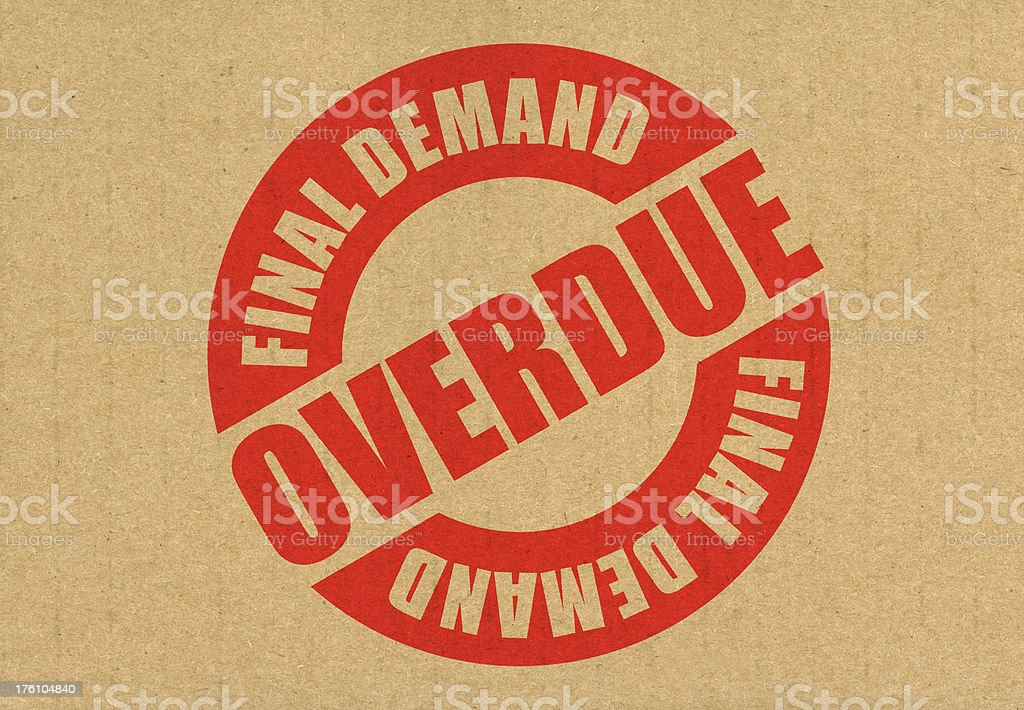 Overdue Final Demand Letter royalty-free stock photo