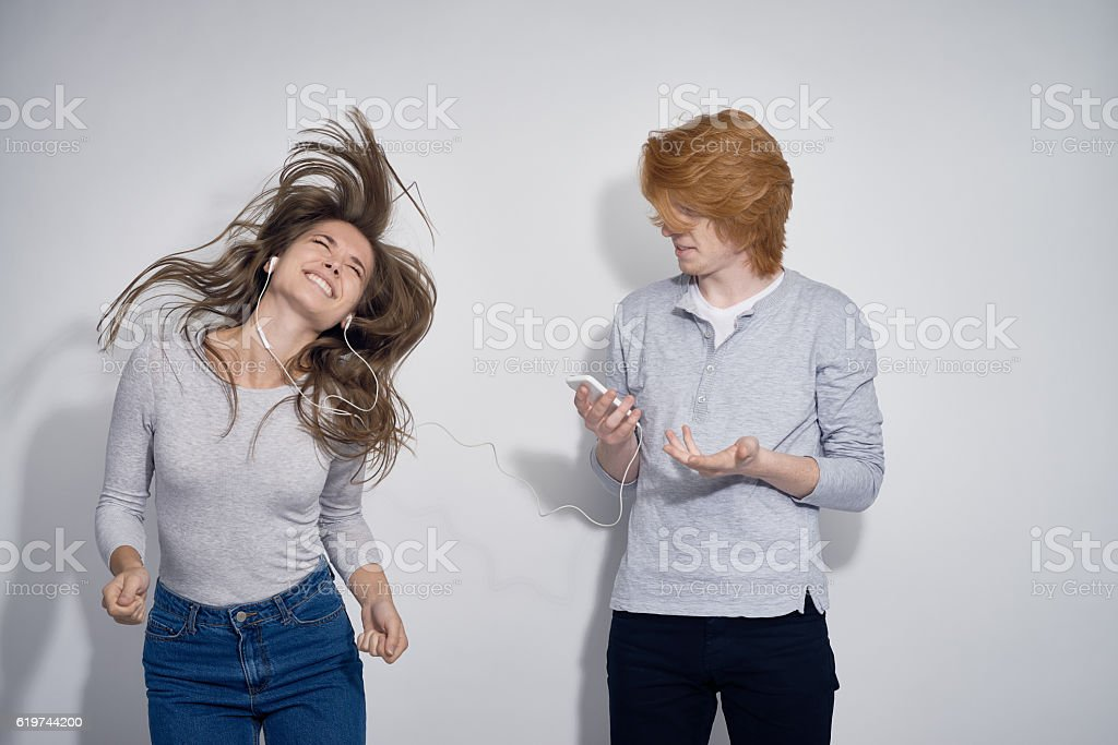 Overexcited Girlfriend stock photo