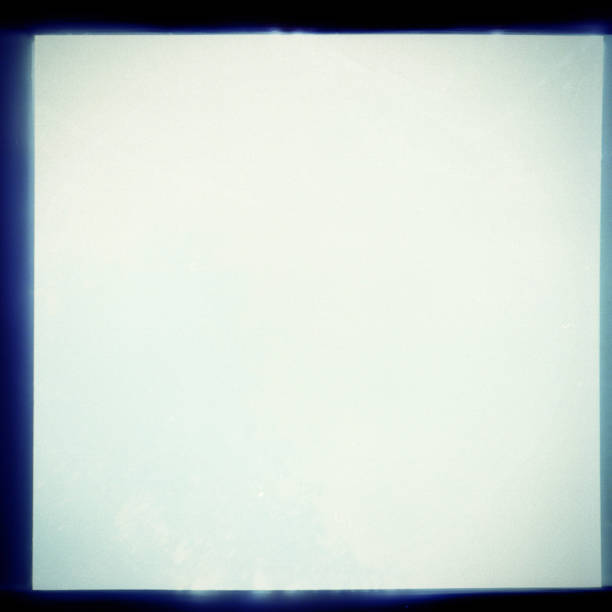 Overexposed medium format film frame Overexposed square grainy medium format film frame. Film texture background photographic slide stock pictures, royalty-free photos & images