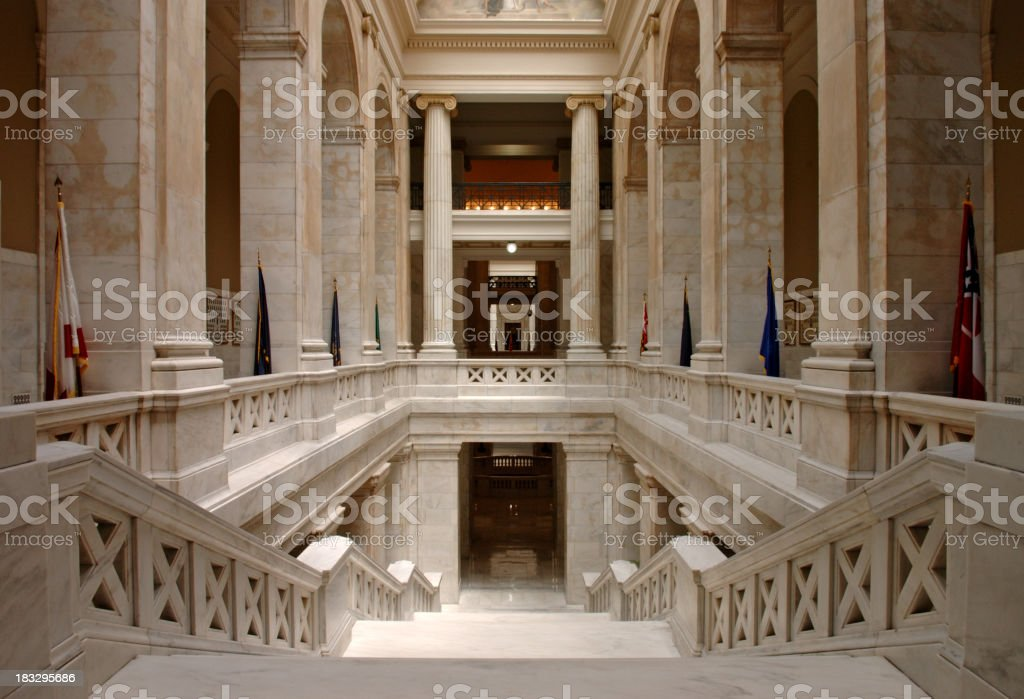 Overexposed photo of interior of Capitol building stock photo