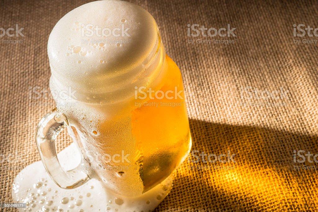 Overflowing Beer stock photo