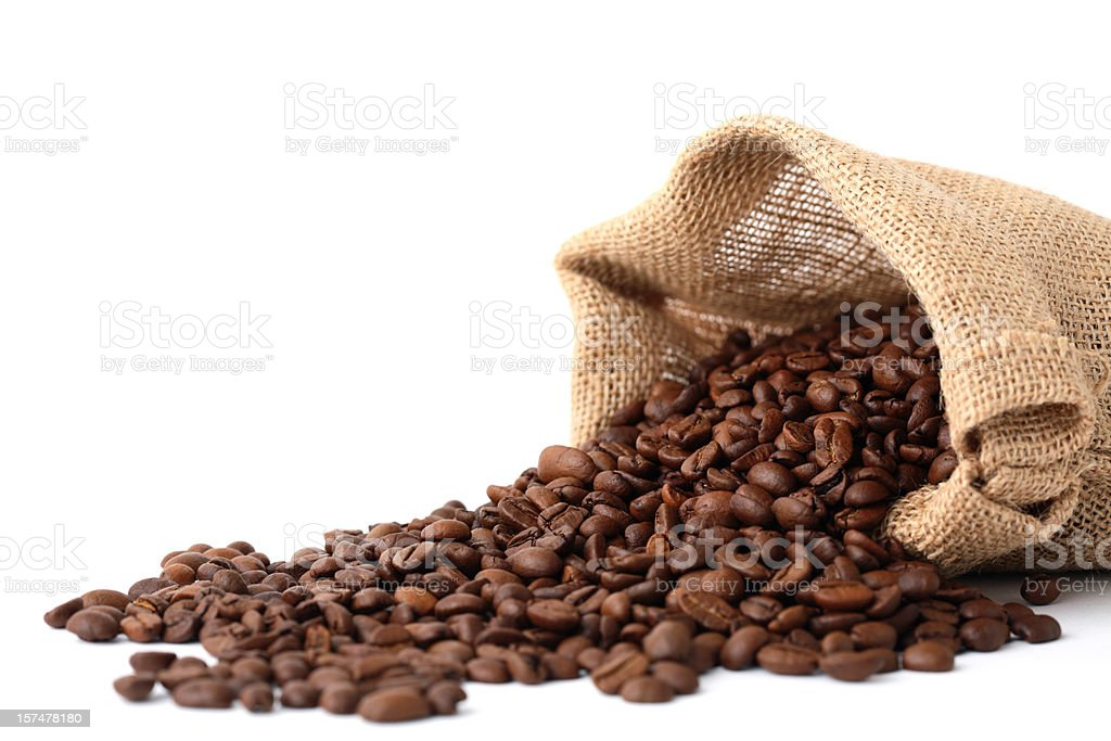 Overflowing Coffee Beans royalty-free stock photo