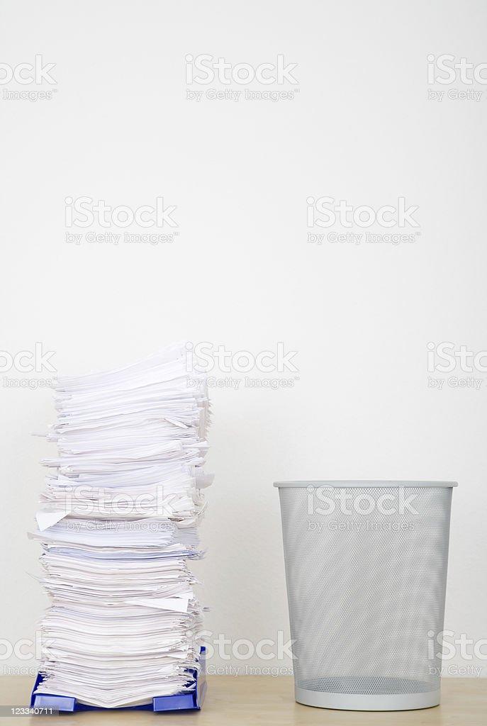Overflowing Inbox Series royalty-free stock photo