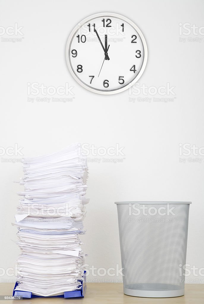 Overflowing Inbox Series royalty-free stock photo