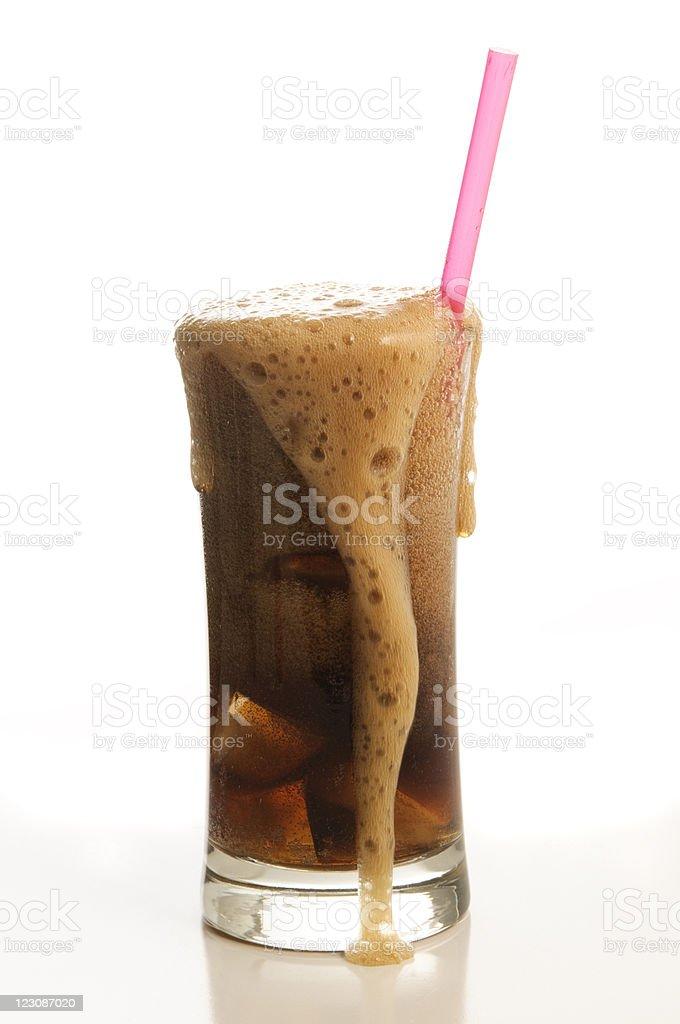 Overflowing Soda stock photo
