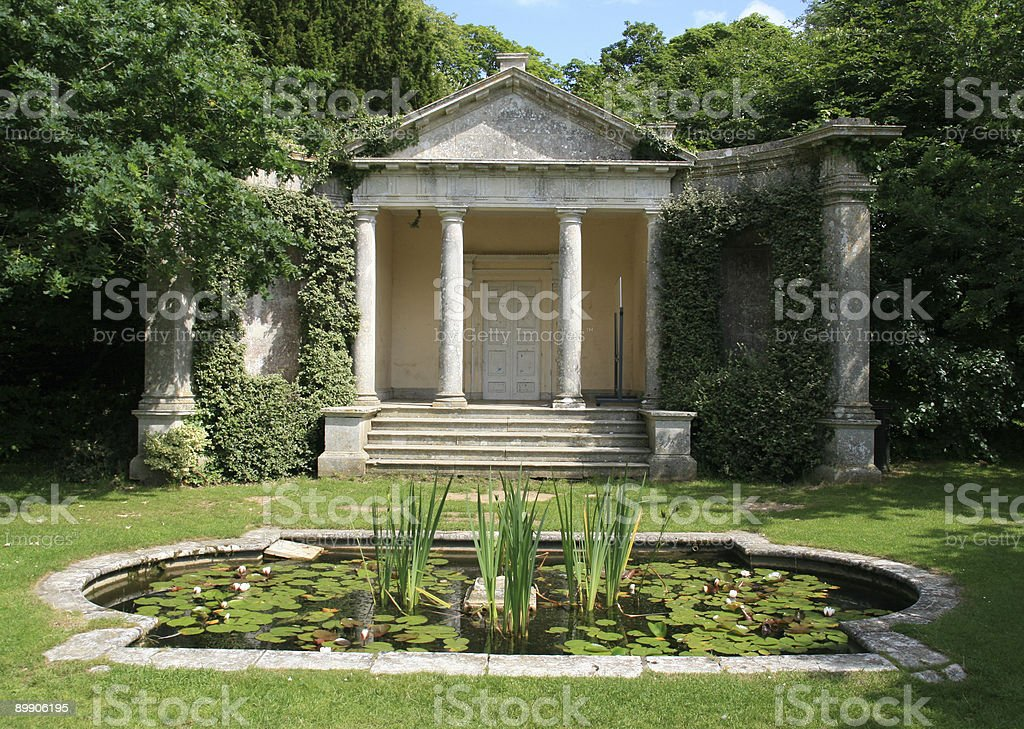 Overgrown temple royalty-free stock photo