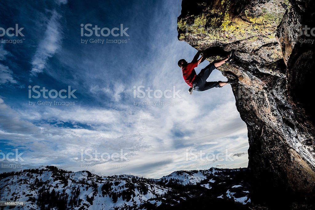 overhang stock photo