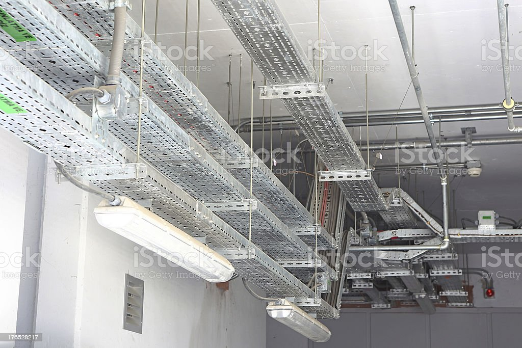 Overhead Cable Management stock photo
