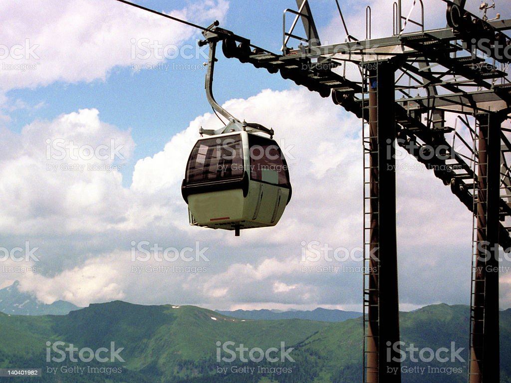 Overhead Cablecar royalty-free stock photo