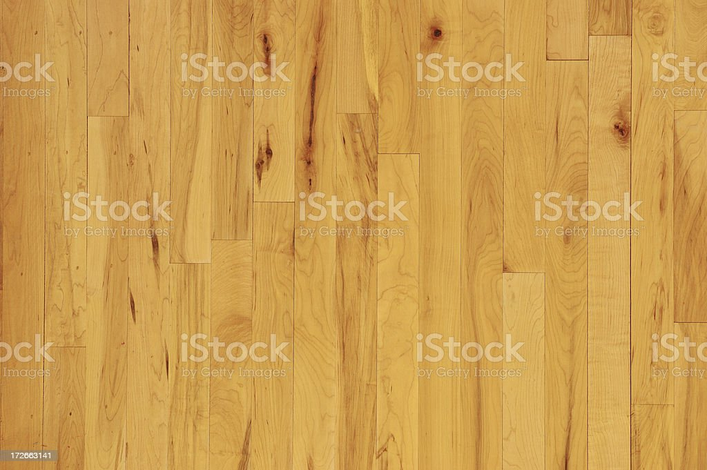 Overhead Closeup of Horizontal Wooden Basketball Floor stock photo