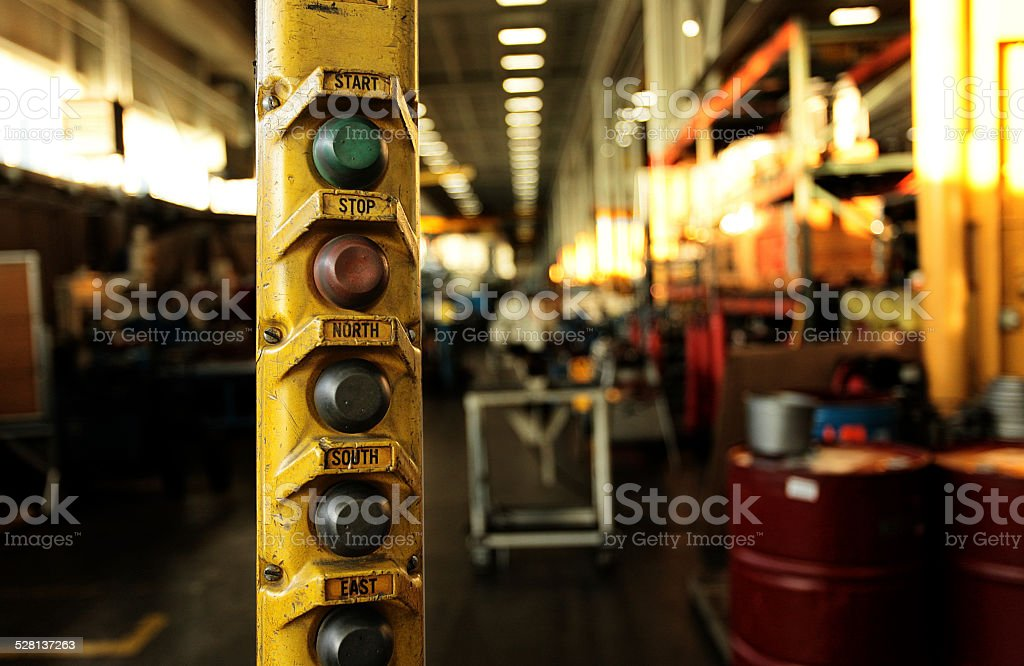 overhead crane controller stock photo