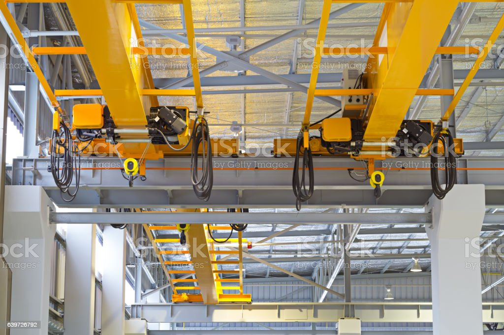 Overhead Crane Factory stock photo