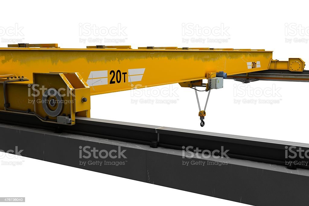 Overhead Crane Hoist stock photo