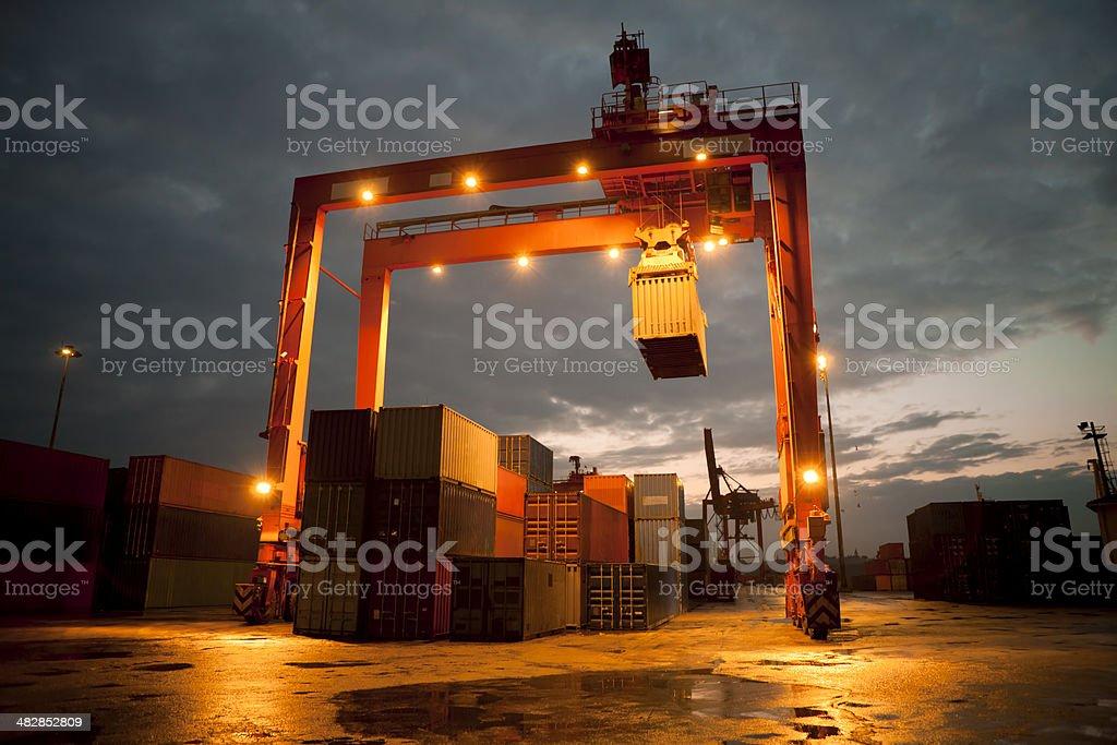 overhead crane royalty-free stock photo