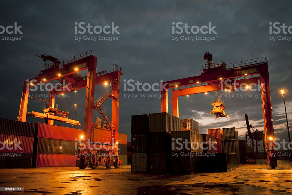 overhead cranes stock photo