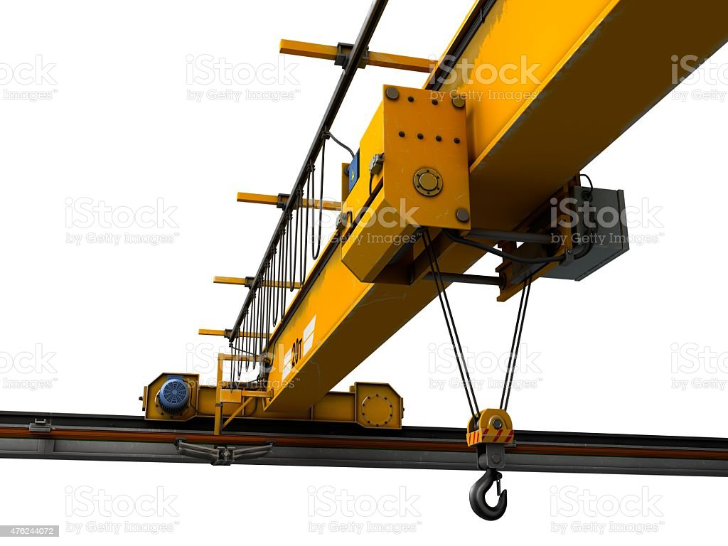 Overhead Hoist Crane stock photo
