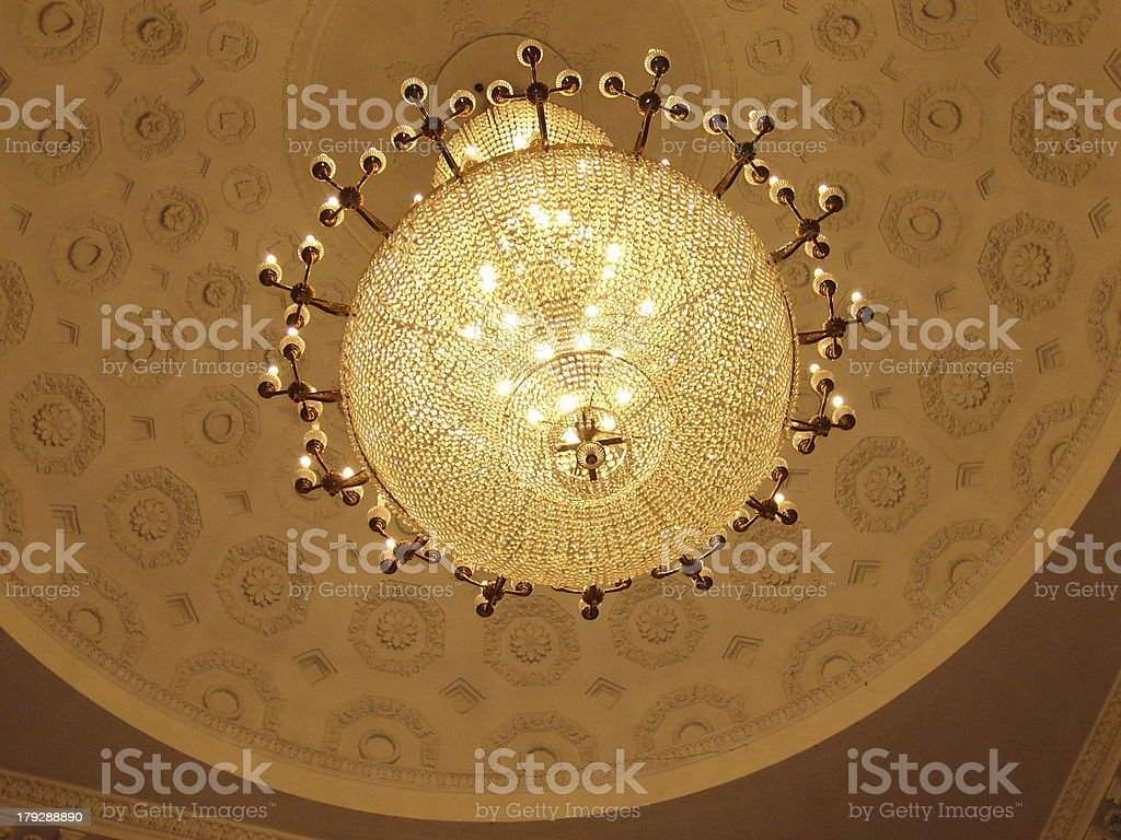 Overhead lamp royalty-free stock photo