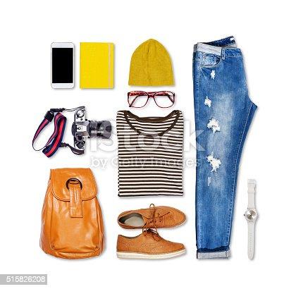 istock Overhead of essentials elegant woman. 515826208
