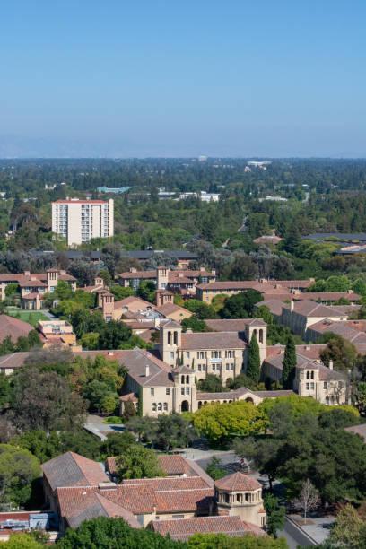 Overhead of Palo Alto stock photo