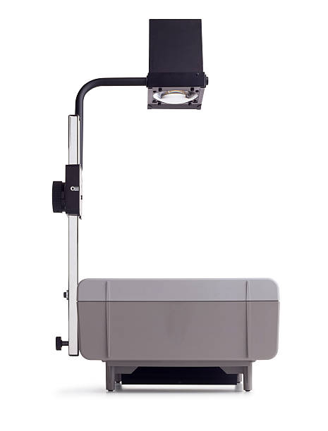 Overhead Projector Close up shot of an overhead projector on white background. overhead projector stock pictures, royalty-free photos & images