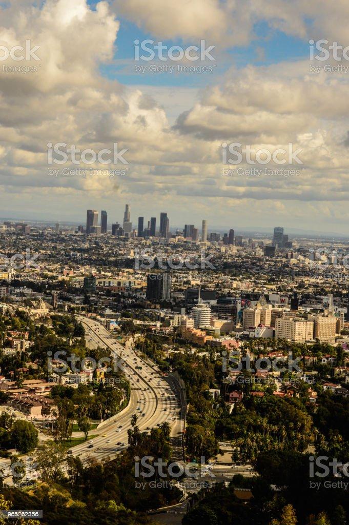 Overhead Scenic View of Los Angeles zbiór zdjęć royalty-free