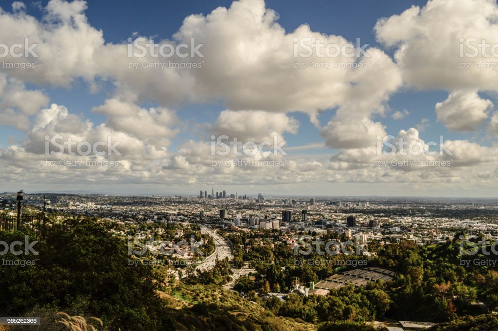 Overhead Scenic View of Los Angeles royalty-free stock photo
