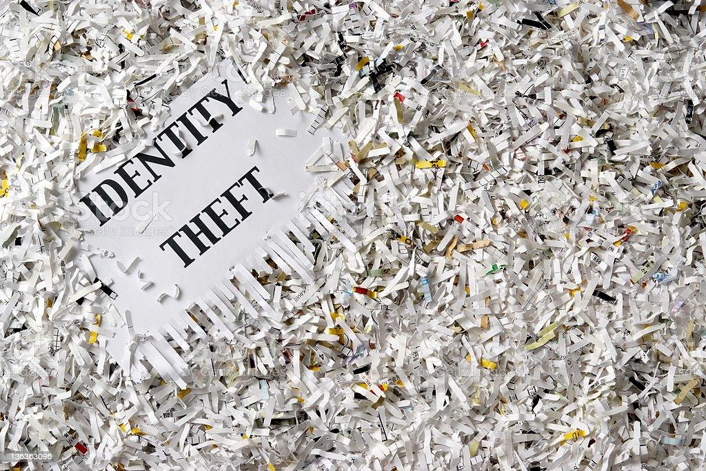 Overhead shot of many shredded documents royalty-free stock photo