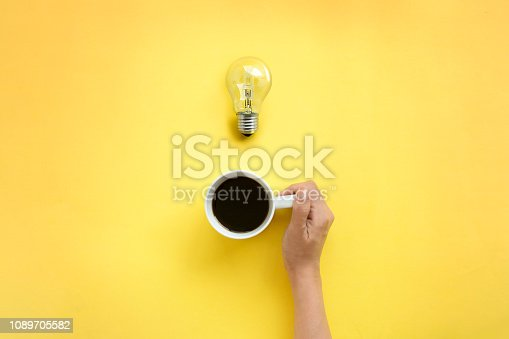 istock Overhead view brainstorming coffee time. 1089705582