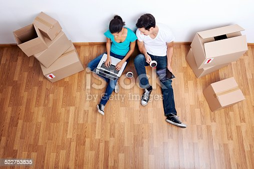 istock overhead view moving in 522753835