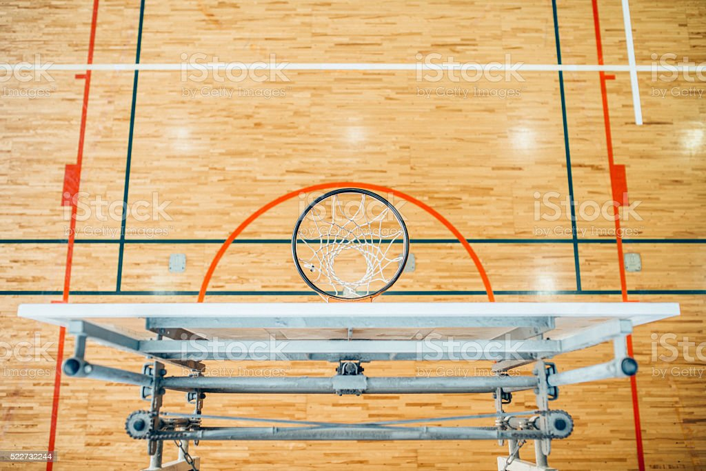 Overhead view of a Basketball Hoop stock photo