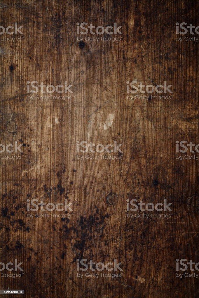 Vista aérea de un fondo de madera desgastado - foto de stock