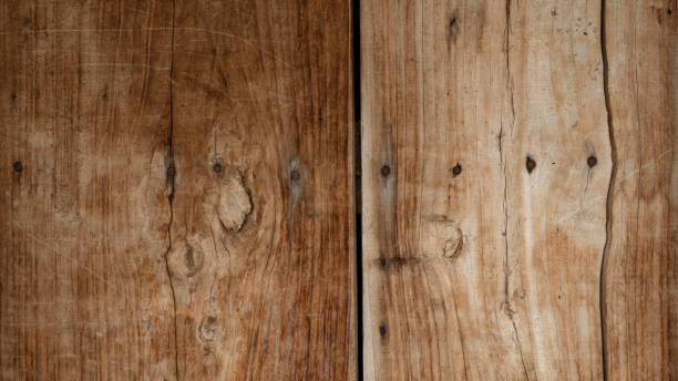Overhead view of a worn wooden background stock photo stock photo