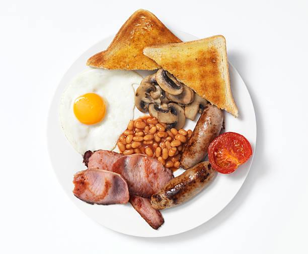 揚げの朝食 ストックフォト