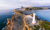 Castle Point Lighthouse, located near the village of Castlepoint in the Wellington Region of the North Island of New Zealand, is the North Island's tallest lighthouse standing 52 metres above sea level and is one of only two left in New Zealand with a rotating beam.