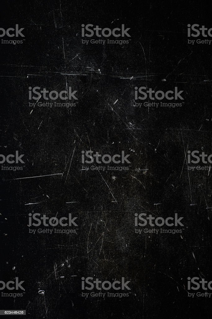 Overhead view of dark black metal surface stock photo