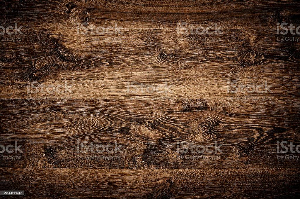 Overhead view of dark brown floor texture stock photo