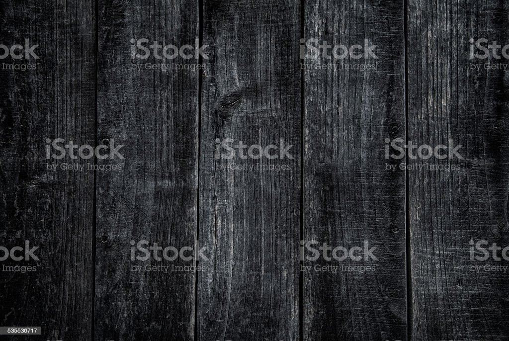 Overhead view of dark wooden table stock photo