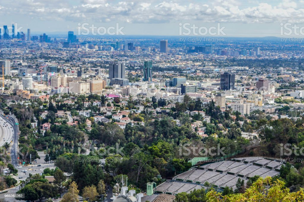 Overhead View of Downtown Los Angeles royalty-free stock photo